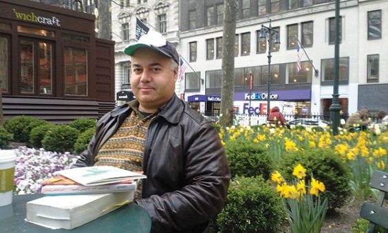 Osama Alomar is the author of Full Blooded Arabian, published by New Directions. Image via City of Asylum.