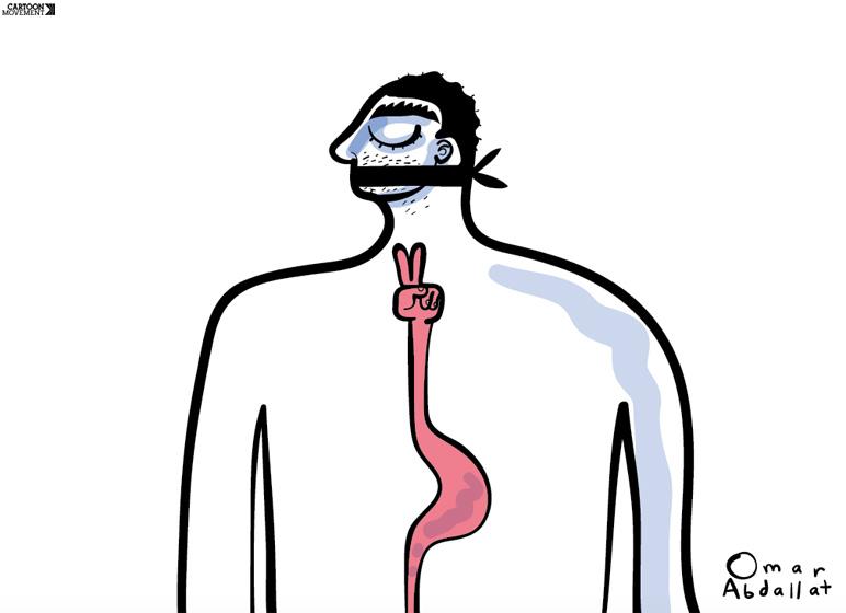 Cartoon: Hunger Strike | Sampsonia Way Magazine